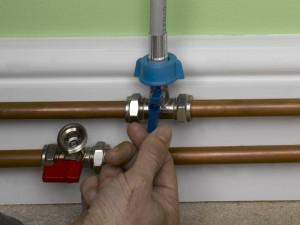 turning on isolation valves for dishwasher or washing machine