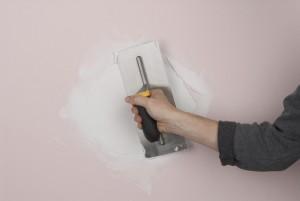 filling holes in plaster