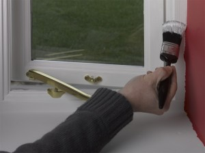 window frame painting
