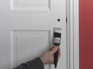 painting door edges