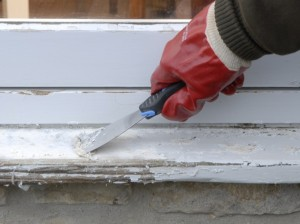 scraping paint