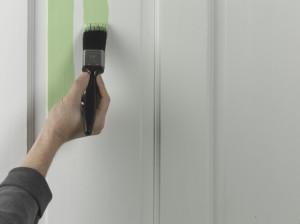 applying paint