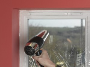 using hairdryer with double glazing film
