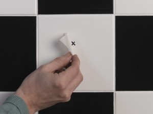 marking fixing point on tile