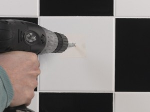 drill into tile