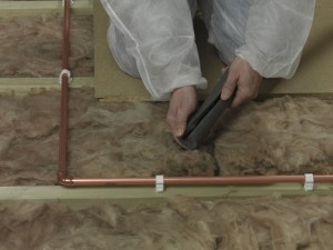 fitting pipe insulation