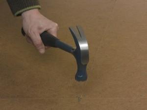 nailing down hardboard