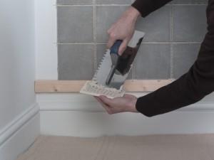 back buttering tile