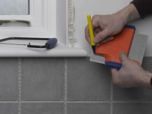marking off tile