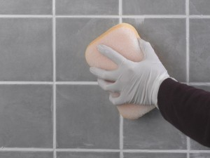 removing excess grout