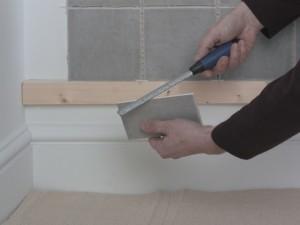 filing tile edge