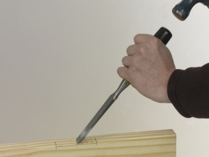 chisel out for hinges