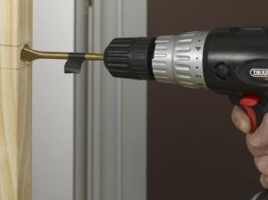 drilling into door edge