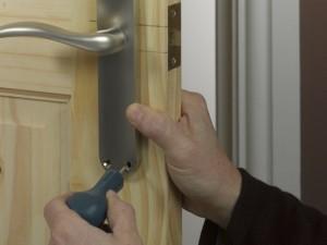 positioning door handle