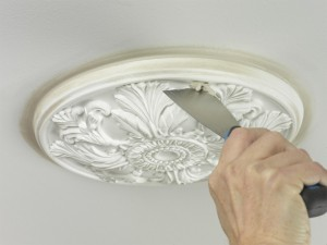 filling holes in ceiling rose