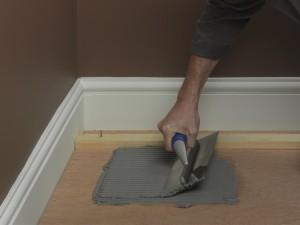 applying a adhesive