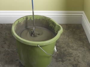mixing self-levelling compound