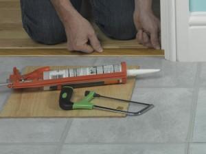 positioning door threshold