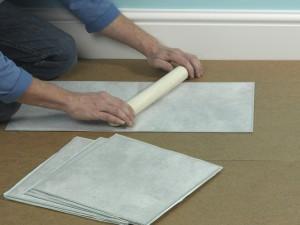 laying vinyl tile