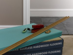 Laying wood or laminate floor