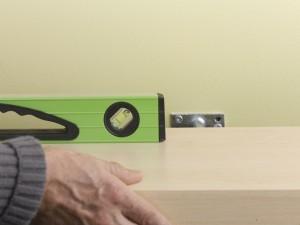 level shelf and bracket
