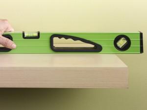 sliding floating shelf onto brackets