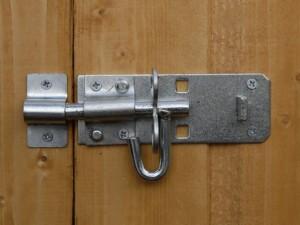 securing shed bolt