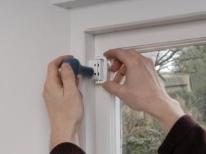 marking fixing points for casement window lock