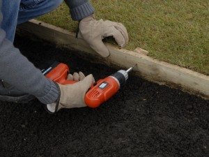 fix treated edging boards