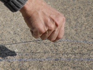 marking the fence line