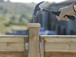 nailing in fence post cap