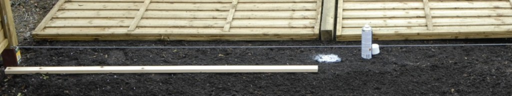 mark out fence line with string