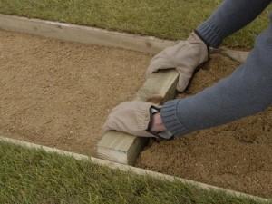 level sharp sand