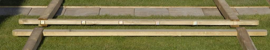 aligning pergola brackets on rafters