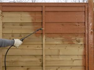 spraying fence