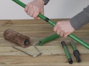 Using a decking roller kit