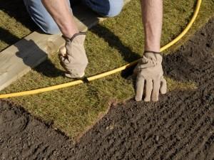 Cutting turf