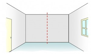 Finding middle of feature wall
