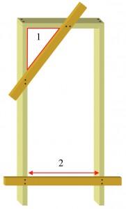 Making door lining square