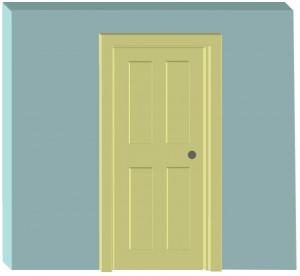 Interior door frame
