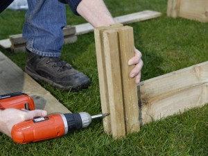 Building raised garden bed