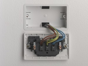 two cables connected at the socket