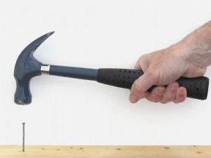 Hammering in nail