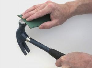 Sanding hammer head