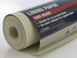 Using lining paper