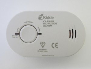Fit a carbon monoxide alarm