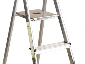 Safety on step ladders