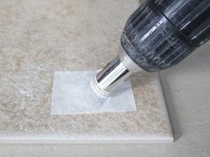 Drilling porcelain tile