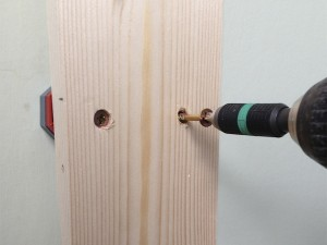 Securing door lining in place